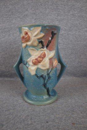 """Roseville Blue Magnolia Vase 89-7"""""""
