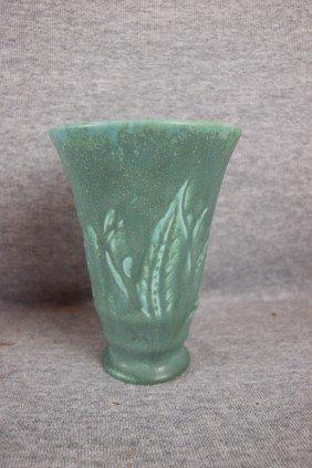 Rookwood Vase With Floral And Leaf Motif, 1934, 5 1