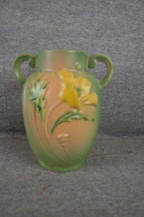 """Roseville Green Poppy Vase, 867-6"""""""