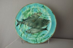 WEDGWOOD Turquoise Triple Fish Plate, 8 3/4""