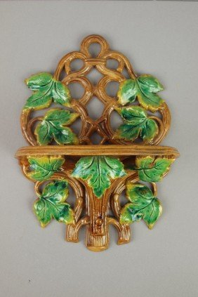 Majolica Vine And Leaf Bracket Shelf, Professiona