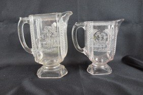 "EAPA ""Deer And Pine Tree"" Water Pitcher (nicks) And"