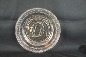 "EAPG ""Good Luck"" Round Tray, 10"""