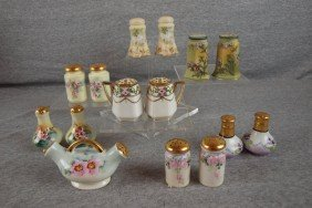 Lot Of 8 Pair Of China Salt And Pepper Shakers