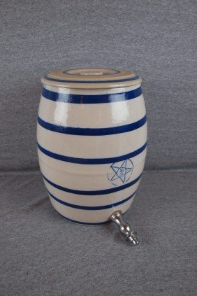 Blue And White Stoneware 2 Gallon Blue Band Water