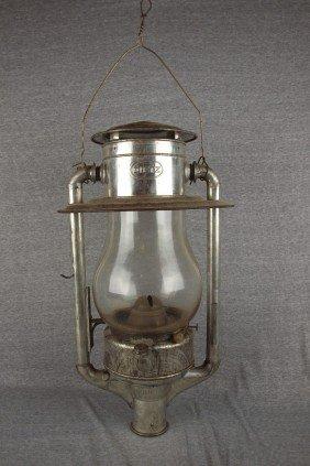 """RARE Dietz Railroad Station Post Lantern, """"Dietz Pi"""