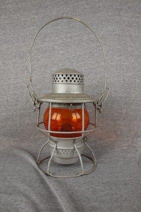 "Adams & Westlake Railroad Lantern Embossed ""WABASH"