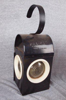 Chalwyn English Railroad Lantern With 3 Clear Lens