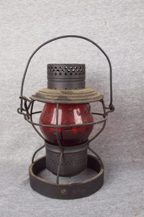 Handlan Railroad Lantern With Weighted Base And Re
