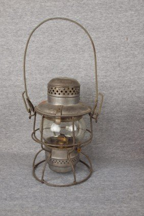 "Amspear ""1925"" Railroad Lantern Embossed With PRR"