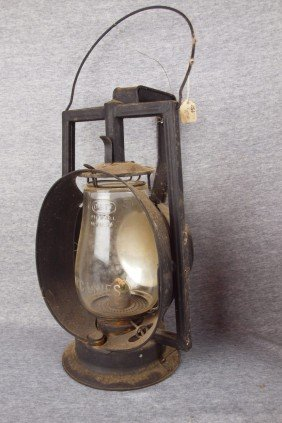 Dietz Acme Inspector Lamp With Clear Globe Etched