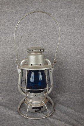 "Dietz Vesta Railroad Lantern Embossed ""WABASH RR"""
