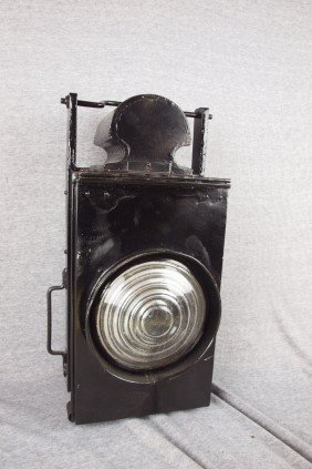 Unmarked Railroad Lamp With Clear Lens