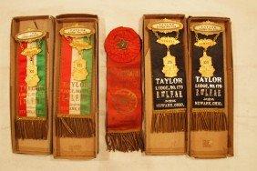 Lot Of 5 Railroad Brotherhood Ribbons - 4 Taylor Lo