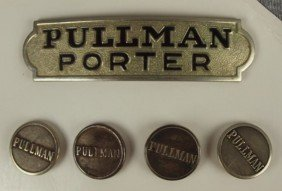 """Pullman Porter"" Hat Badge And 4 Buttons"