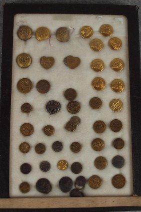 Lot Of 47 Assorted Railroad Uniform Buttons, B&O A