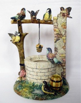 DELPHIN MASSIER Charming Wishing Well Applied With