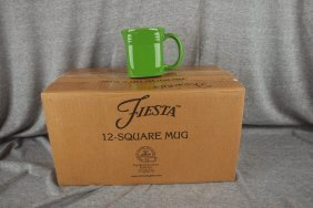 Fiesta Post 86 Shamrock Case Of 12 Square Mugs