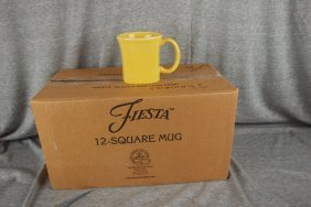 Fiesta Post 86 Sunflower Case Of 11 Square Mugs