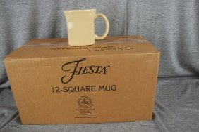 Fiesta Post 86 Ivory Case Of 12 Square Mugs