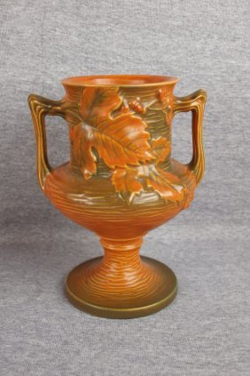 Roseville Brown Bushberry Vase, 157-8""
