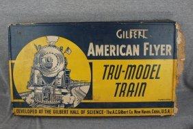 Gilbert American Flyer Tru Model Train With Original Bo