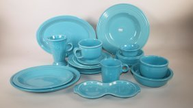 Fiesta Post 86 Turquoise Lot Of 17 Assorted Pieces