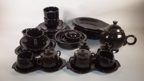 Fiesta Post 86 Black Lot Of 22 Assorted Pieces