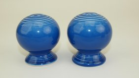 Fiesta Post 86 Rare Sapphire Salt & Pepper Shakers Only