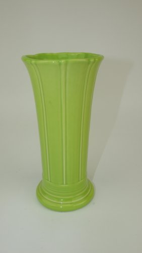 "Fiesta Post 86 Rare Chartreuse 8"" Flower Vase, Only One"