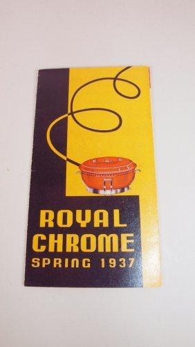 Fiesta Royal Chrome Spring 1937 Flyer, Reprint