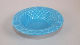 Fiesta Harlequin Turquoise Basket Weave Ashtray
