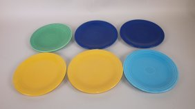 "Fiesta 6"" Plate Group: Lot Of 6 Assorted Colors"