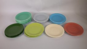 "Fiesta 6"" Plate Group: Lot Of 18 Assorted Colors"