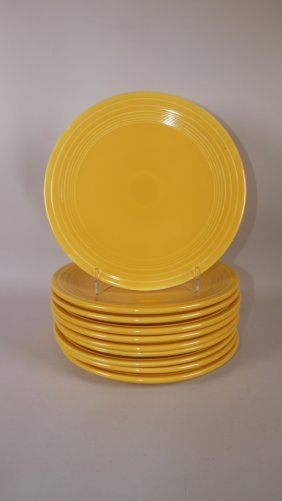 "Fiesta 9"" Plate Group: 10 Yellow"