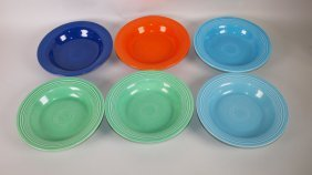 Fiesta Deep Plate Group: Lot Of 6 Mixed Colors