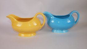 Fiesta Sauce Boat Group: Yellow, Turquoise