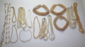 Lot Of Pearl And Mop Jewelry