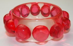 1950's French Translucent Bangle Bracelet