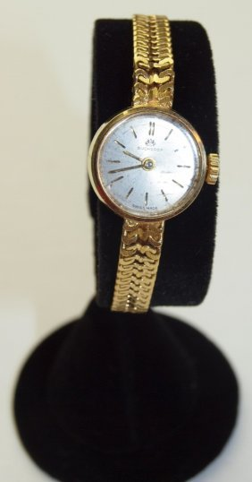 Bucherer 18k Yellow Gold Ladies Wrist Watch, 21.2g