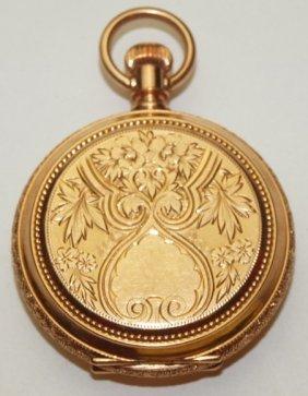 Waltham 14k Yellow Gold Hutner Case Pocket Watch, 3/0s,
