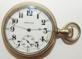 Hamilton 17j, 16s, O.f. Pocket Watch With See Thru Back
