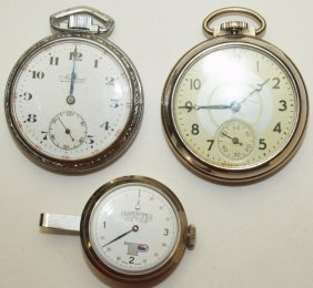 Watch Lot: Ingersol & Admiral Pocket Watches, And
