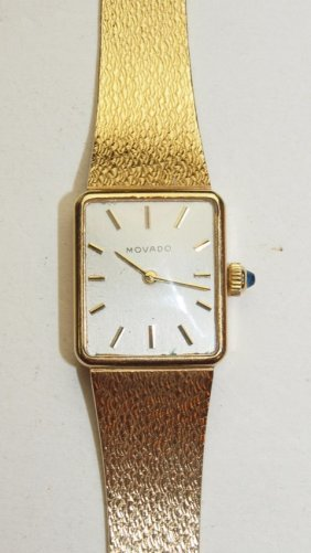 Movado 14k Yellow Gold Ladies Wrist Watch, 29.6g