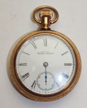Waltham 18s Open Face Pocket Watch, Missing Minute Hand