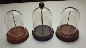 Lot Of 2 Pocket Watch Display Domes