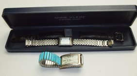 Anne Klein Sterling Ladies Wrist Watch And Mens Wrist