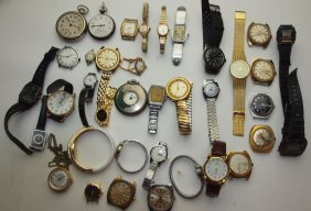 Lot Of 38 Watches: Wolbrook, Bulova, Caravelle, Orvin,