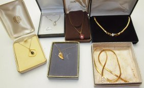 Lot Of 6 Necklaces, One Napier