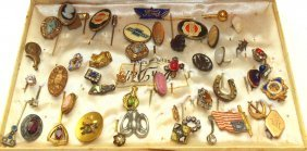 Lot Of 40 +/- Stick Pins, Nice Lot